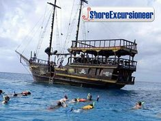 Best Pirate Ship Snorkel, Lunch, and Party Shore Excursion at Cozumel - Western Caribbean, Caribbean Cozumel Snorkeling, Cozumel Excursions, Cozumel Mexico, Shore Excursions, Western Caribbean, Caribbean Pirates, Sea Pirates, Spanish Galleon, Pirate Boats