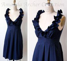 Midnight Navy Dress Bridesmaid Made to Order von AmandaArcher