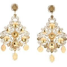 DOLCE & GABBANA chandelier earrings (10.910 VEF) ❤ liked on Polyvore featuring jewelry, earrings, accessories, gold tone earrings, gold tone jewelry, gold tone chandelier earrings, brass jewelry i metallic jewelry