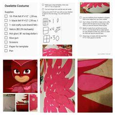 Owlette Costume PJ Masks diy Halloween 2017, Diy Halloween Costumes, Holidays Halloween, Halloween Party, Owelette Costume, Pj Masks Owlette Costume, Festa Pj Masks, Family Costumes, Costumes Kids