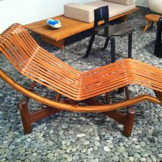 Chaise by Charlotte Perriand, 1940 for Japanese government. Musee des art Decoratifs, Paris (my own photo). http://metal-clay.co