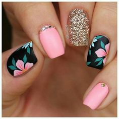nail art designs for spring . nail art designs for winter . nail art designs with glitter . nail art designs with rhinestones Classy Nails, Stylish Nails, Trendy Nails, Cute Nails, Summer Acrylic Nails, Best Acrylic Nails, Acrylic Nail Designs, Summer Beach Nails, Summer Vacation Nails