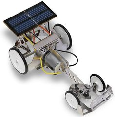 solar powered car science fair project | image of Beginner Solar Power Racing Car Experiments Kit