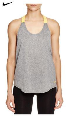 e6b8deac10c370  23.99 - Nike Womens Elastika Dri-Fit Racerback Tank Top Gray XS Sporty  Look