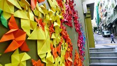 mademoiselle maurice: urban origami installations