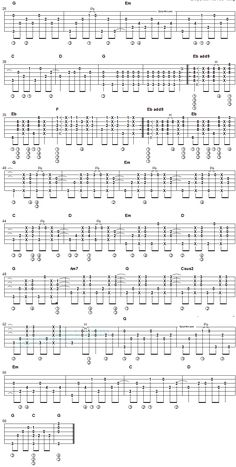 Every Breath You Take - fingerstyle guitar tab 2
