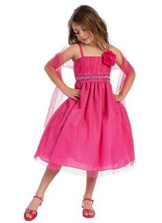 A-Line/Princess Strapless Tea-Length Taffeta Tulle Flower Girl Dress With Ruffle