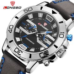13.85$  Watch now - http://alii69.shopchina.info/go.php?t=32782116850 - LONGBO Fashion Brand Sports Military Leather Japan Movement Watch Date Calendar Men Waterproof Analog Wrist Watches 80189 13.85$ #shopstyle