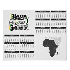 Africa Continent Poster Calendar - decor gifts diy home & living cyo giftidea