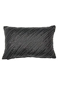 LEATHER SEQUINS SCATTER CUSHION 30X45CM