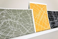 $18 City Map Art Prints - choose your city and a color 8x10 - love this idea for all the places we love!