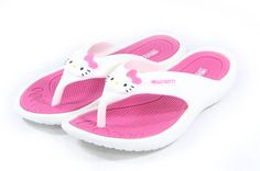 a1165409f11eac Hello Kitty Lovely Women Slippers Shoes for Girls Flip Flops Pink US Size 7  Summer Beach