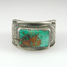 Blue Gem Turquoise Ring  by Al Somers, Apache