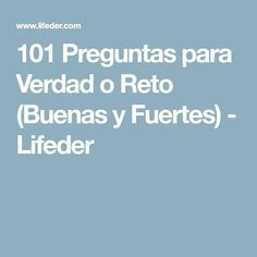 101 Preguntas para Verdad o Reto (Buenas y Fuertes) - Lifeder Instagram Story Template, Ideas Para, Life Hacks, Challenges, Thoughts, This Or That Questions, Cool Stuff, Think, Words