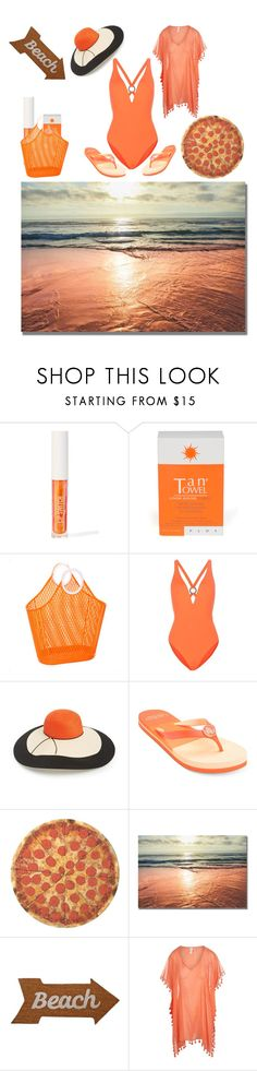 """""""Beach Time"""" by angeladt-1 ❤ liked on Polyvore featuring Sigma, TanTowel, Proenza Schouler, Eugenia Kim, Lauren Ralph Lauren, Round Towel Co., Mud Pie and Seafolly"""
