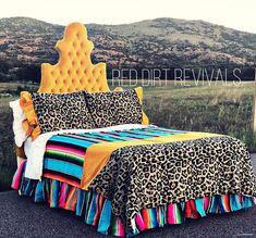 Yellow Crush Bedding Set (Mad Cow) - Bedding Set - Ideas of Bedding Set - Yellow Crush Bedding Set (Mad Cow) Red Dirt Revivals College Bedding Sets, Dorm Bedding Sets, Boho Bedding, Bedroom Sets, Modern Bedding, Cosy Bedroom, Floral Bedding, Red Bedding Sets, Furniture