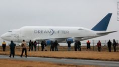 In 2013, a Dreamlifter carrying a 787 fusel...