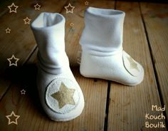 White eco leather slippers by Madkouch