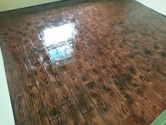 Stamped comcrete Wood plank, With a epoxy finish
