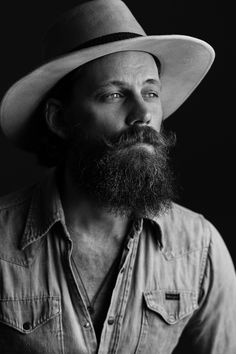 Ron-Berlin — oldgeezerwithin: The Lonely Cowboy Photo by. Cowboy Tattoos, Johnny Weir, Hipster Beard, Beard Lover, Beard Tattoo, Man Bun, Hair And Beard Styles, Bearded Men, Hats For Men