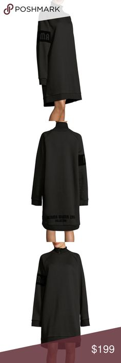 FENTY Puma by Rihanna Oversized Zip Sweatshirt XS New with Tags Women's Fenty Puma by Rihanna Oversized Zip Turtleneck Sweatshirt Meant to be worn oversized So soft and cozy on the inside! **AUTHENTIC NEW WITH TAGS**  Size XS Black Knit cotton-blend sweatshirt   Ribbed turtleneck Logo print at sleeve  Graphic at back  Banded cuffs and hem  Tonal topstitching and panel seaming  Partial zip front closure  Fully lined Shell: 53% cotton and 47% polyester; Collar: 98% viscose and 2% elastane…