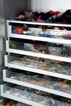 Closet, Jewelry storage