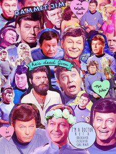 "Star Trek Collage--Leonard ""Bones"" McCoy Edition"