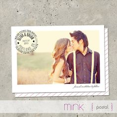 save the date photo card  Postal par minkcards sur Etsy