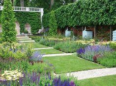 aménagement de jardin moderne anglais