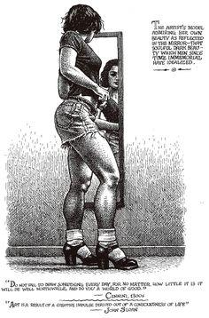 "Robert CRUMB 1996 - #6 from ART & BEAUTY MAGAZINE #1 - Fantagraphics Books, Washington U.S.A.  ""… that soulful dark beauty…"""