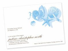elegant under the sea invitations | If you can't find the right beach invitations for your event ...