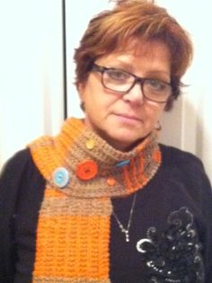 Button scarf/cowl