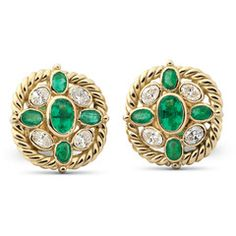 For the woman who loves classic jewellery design, these emerald-and-diamond ear studs in 18-karat gold are a perfect choice. A single oval emerald glows deeply in the center of the stud with four other emeralds around. Its beauty enhanced by 4 oval diamonds in a Bezel setting.   Shop Online:www.parisera.com/products/rasvihar-janaranjani  Subscribe to our newsletter here: www.rasvihar.com/newsletter/