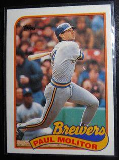 1989 Topps Paul Molitor Milwaukee Brewers Wrong Back Error Baseball Card #topps #MilwaukeeBrewers