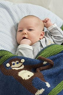 This adorable baby blanket is knit in Intarsia and is a free pattern!