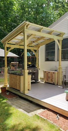 Outdoor Grill Area, Outdoor Grill Station, Grill Gazebo, Outdoor Kitchen Patio, Outdoor Kitchen Design, Grill Hut, Outdoor Living, Patio Grill, Outdoor Grilling