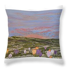"""Longing for the Sun Throw Pillow 14"""" x 14"""""""