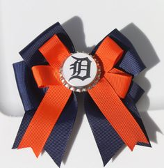 Detroit Tigers Detroit Tigers Hair Bow Tigers Hair by bowsforme, $6.00  Wish Olivia would keep things in her hair..