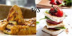 Paneer Tikka vs Paneer Salad on-a-skewer