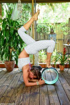 10 Ways to Use a Yoga Wheel - Pin now, practice later! Funny Yoga Pictures, Pilates, Dharma Yoga, Bikram Yoga, Yoga Gym, Relaxing Yoga, Yoga Photography, Yoga Tips, Yoga Lifestyle