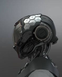 "astromech-punk: ""Cybernetic Being by Jaewoo Kim "" cyborg android concept art helmet design illustration inspiration ideas head robotic suit cyborg robot android Futuristic Helmet, Futuristic Armour, Futuristic Design, Arte Ninja, Arte Robot, Arte Cyberpunk, Cyberpunk Fashion, Alien Concept Art, Armor Concept"