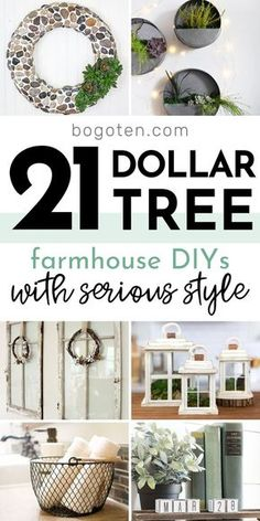 Dollar Tree Farmhouse DIYs They'll Think Cost a Fortune!