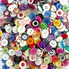 Items similar to 1 Pound SMALL Buttons Rainbow Mix All Color Button Mix, Sewing buttons, Craft Buttons on Etsy Bulk Buttons, How To Make Buttons, Button Art, Button Crafts, Pinterest Diy Crafts, Button Bouquet, Button Picture, Etsy Shipping, Diy Scrapbook