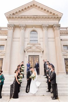bride and groom kiss on steps of St. Catharine's Church in Spring Lake NJ | Classic fall wedding at the Mill Lakeside Manor in New Jersey photographed by Idalia Photography. Planning a classic wedding? Find inspiration here for your wedding day! #IdaliaPhotography #TheMillLakesideManorWedding #ClassicFallWedding Party Photos, Wedding Photos, Spring Lake Beach, Lakeside Manor, Fall Wedding, Our Wedding, Bridal Parties, Bridesmaid Dresses, Wedding Dresses