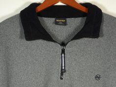 Nautica Competition Fleece Sweater Mens Size XXL 2XL Pullover Gray Zipper Mint #Clothing #Shopping #eBay http://r.ebay.com/tQAgV4 via @eBay