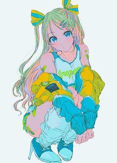 ハーフツインラヴ、、、pic.twitter.com/MCPQgFFvIE Art Anime, Anime Kunst, Manga Art, Cute Girl Drawing, Cute Drawings, Pretty Art, Cute Art, Aesthetic Art, Aesthetic Anime