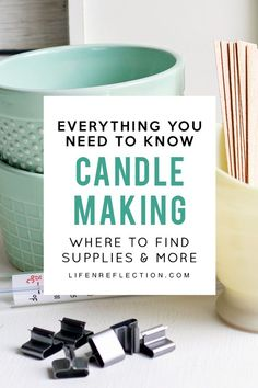 Everything You Need To Know About Candle Making: where to find supplies, how much wax to use, what temperature to melt the wax, and so much more! candles Soy Candle Making, the Easy Way Soy Candle Making, Candle Making Supplies, Making Candles, Diy Candles As Gifts, Diy Candles Supplies, Diy Candles To Sell, Craft Supplies, Diy Tumblr, Soy Wax Candles