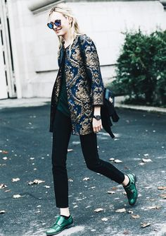 Opt for a pop of color to make flats stand out