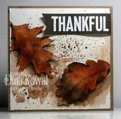 Thankful card by Dina Kowal