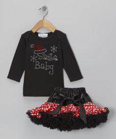 'Santa Baby' Tee & Pettiskirt